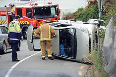 Wellington-Car rolls on Grafton Road, Rosneath