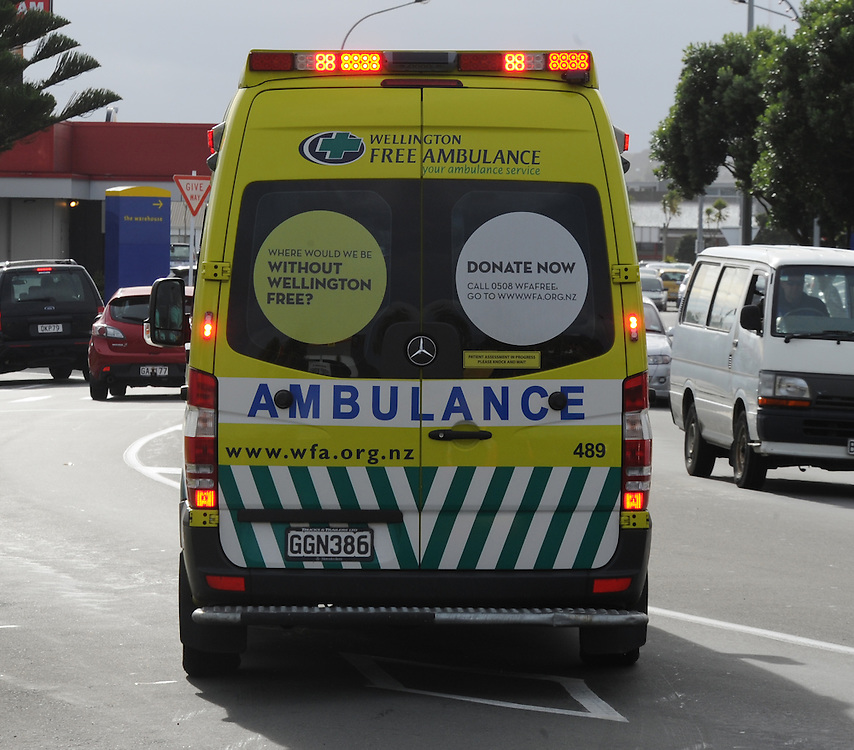 Wellington Free Ambulance, Porirua, Sunday, June 02, 2013. Credit:SNPA / Ross Setford