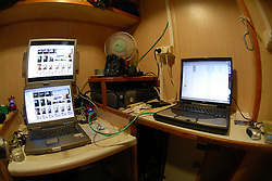 NORTHERN PACIFIC ESPERANZA 28NOV07 - My photo cubicle of two square metres aboard the MY Esperanza in the northern Pacific...jre/Photo by GREENPEACE/Jiri Rezac
