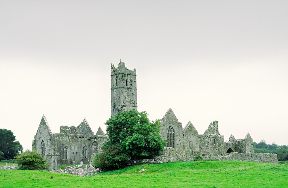 Quin Abbey, County Clare, Ireland. Founded by the Franciscan order in 1433.