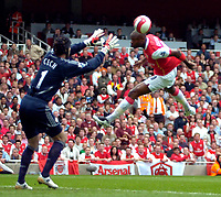 Photo: Ed Godden/Sportsbeat Images.<br /> Arsenal v Chelsea. The Barclays Premiership. 06/05/2007.<br /> Arsenal's William Gallas has a header saved by Petr Cech.