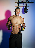 Fitness Photography in Photo Studio.  Boxing, Fitness Promo Shots, Bodybuilding Images