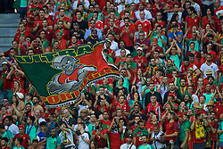 LYON, FRANCE - Wednesday, July 6, 2016: Portugal supporters during the UEFA Euro 2016 Championship Semi-Final match against Wales at the Stade de Lyon. (Pic by David Rawcliffe/Propaganda)