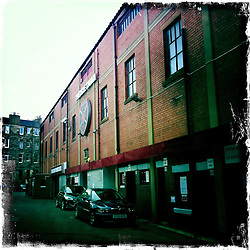 Tynecastle, home of Hearts FC..Hipstamatic images taken on an Apple iPhone..©Michael Schofield.
