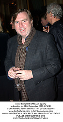 Actor TIMOTHY SPALL at a party in London on 10th December 2003.PPM 31