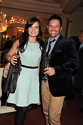 Dancers DARREN BENNETT and LILIA KOPYLOVA at an after show party following the 1st preview show of the new show Top Hat in aid of the charity Starlight held at the Aldwych Theatre, London on 19th April 2012.