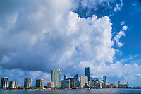 Brickell Skyline under a Cloudy Sky
