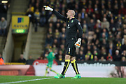 Norwich City goalkeeper John Ruddy during the EFL Sky Bet Championship match between Norwich City and Brighton and Hove Albion at Carrow Road, Norwich, England on 21 April 2017.