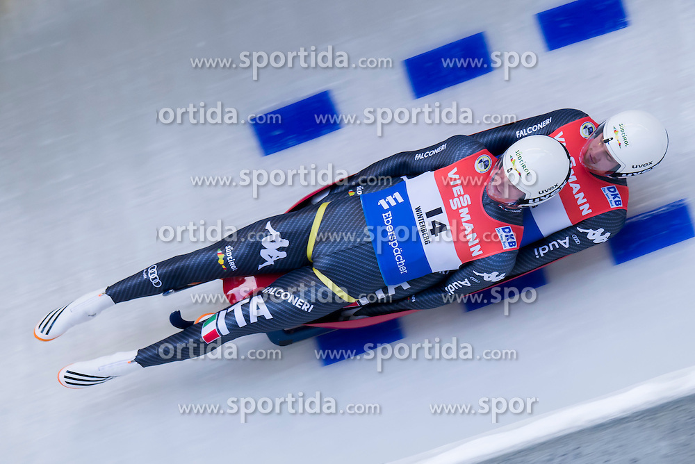 26.11.2016, Winterberg, GER, Viessmann Rennrodel Weltcup, Winterberg, Herren, Doppelsitzer, im Bild Ludwig Rieden und Patrick Rastner ITA // during men's double seater of Viessmann Luge World Cup. Winterberg, Germany on 2016/11/26. EXPA Pictures &copy; 2016, PhotoCredit: EXPA/ Rolf Kosecki<br /> <br /> *****ATTENTION - OUT of GER*****