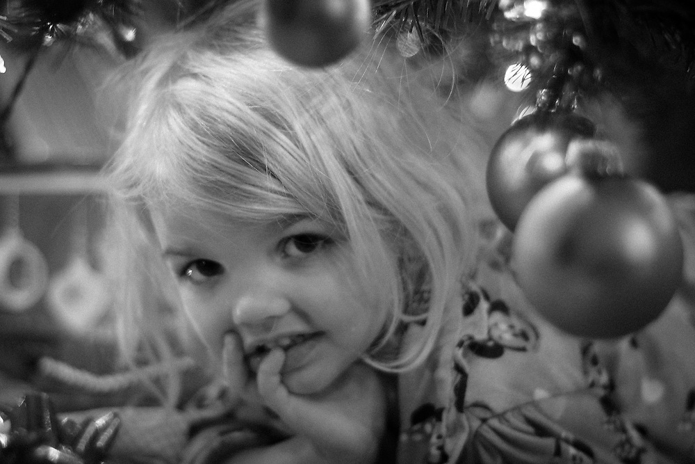Kendal under the tree on her 4th Birthday