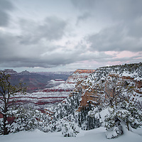 Snowy Grand Canyon. Grand Canyon National Park, AZ