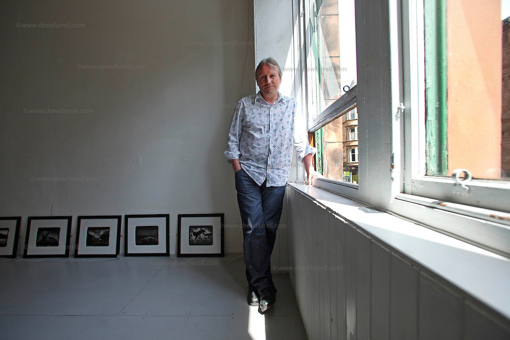 Picture shows : Portrait of Malcolm Dickson, curator and Director of Street Level Photoworks...Street Level, King Street, Merchant City Area, Glasgow. Travel guide feature...Picture Drew Farrell. tel : 07721-735041......