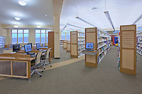 Photographer Jeffrey Sauers of Commercial Photographics of Maryland Interior Image of Harford County Public Library Whitford Branch interior for Lawrence Howard and Associates and Mullan Contracting Company