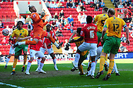 London - Saturday, April 17th 2010: Michael Nelson of Norwich City scores during the Coca Cola League One match at The Valley, Charlton...(Pic by Alex Broadway/Focus Images)