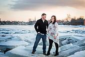 Tasha & Cory's winter engagement shoot on the frozen Grand River