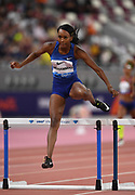 Dalilah Muhammad (USA) wins the women's 400m hurdles  in 53.61 during the IAAF Doha Diamond League 2019 at Khalifa International Stadium, Friday, May 3, 2019, in Doha, Qatar