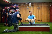 BTS and promotional photo shoot of Brandon McMillan, host of Lucky Dog. <br /> Photo&copy;Bahram Mark Sobhani