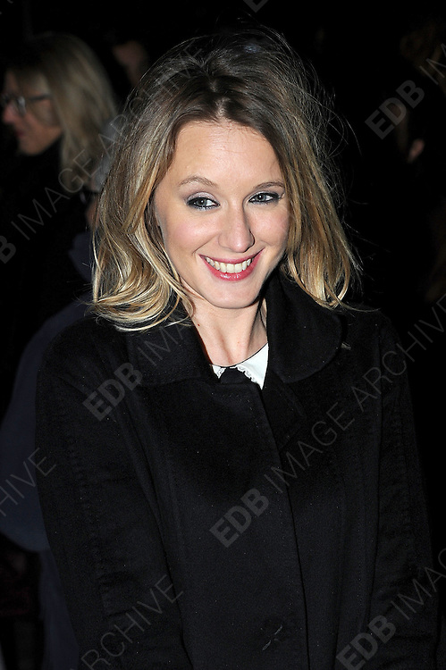 26.FEBRUARY.2013. PARIS<br /> <br /> CELEBRITIES LEAVE THE ETAM FASHION SHOW IN PARIS<br /> <br /> BYLINE: EDBIMAGEARCHIVE.CO.UK<br /> <br /> *THIS IMAGE IS STRICTLY FOR UK NEWSPAPERS AND MAGAZINES ONLY*<br /> *FOR WORLD WIDE SALES AND WEB USE PLEASE CONTACT EDBIMAGEARCHIVE - 0208 954 5968*
