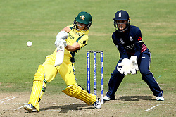 Nicole Bolton of Australia Women hits out against England Women - Mandatory by-line: Robbie Stephenson/JMP - 09/07/2017 - CRICKET - Bristol County Ground - Bristol, United Kingdom - England v Australia - ICC Women's World Cup match 19