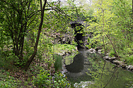 Glen Span arch and the Loch in the North Woods of Central Park.