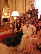 2002 Debutanes getting ready. Crillon. Paris Friday, 6 December 2002. © Copyright Photograph by Dafydd Jones 66 Stockwell Park Rd. London SW9 0DA Tel 020 7733 0108 www.dafjones.com