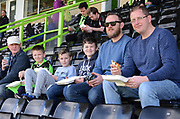Kids go free during the Vanarama National League match between Forest Green Rovers and North Ferriby United at the New Lawn, Forest Green, United Kingdom on 1 April 2017. Photo by Alan Franklin.