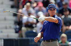 USA's Charley Hoffman tees off the 3rd during day four of The Open Championship 2018 at Carnoustie Golf Links, Angus.