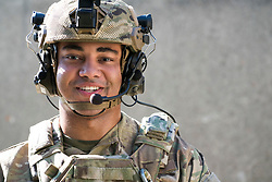 Portrait of young mixed race Marine, model released and compliant with US DoD advertising and promotion requirements
