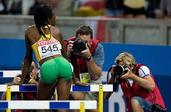 Melaine Walker of Jamaica celebrates winning the gold medal in the women's 400 Metres Hurdles Final during day six of the 12th IAAF World Athletics Championships at the Olympic Stadium on August 20, 2009 in Berlin, Germany. (Photo by Vid Ponikvar / Sportida)