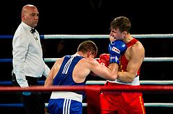 Aljaz Venko of Slovenia (BLUE) fights against Marcel Rumpler of Austria (RED) in Elite 75 kg Category during Dejan Zavec Boxing Gala event in Sentilj, on September 30, 2017 in Mond, Casino & Hotel, Sentilj, Slovenia. Photo by Vid Ponikvar / Sportida