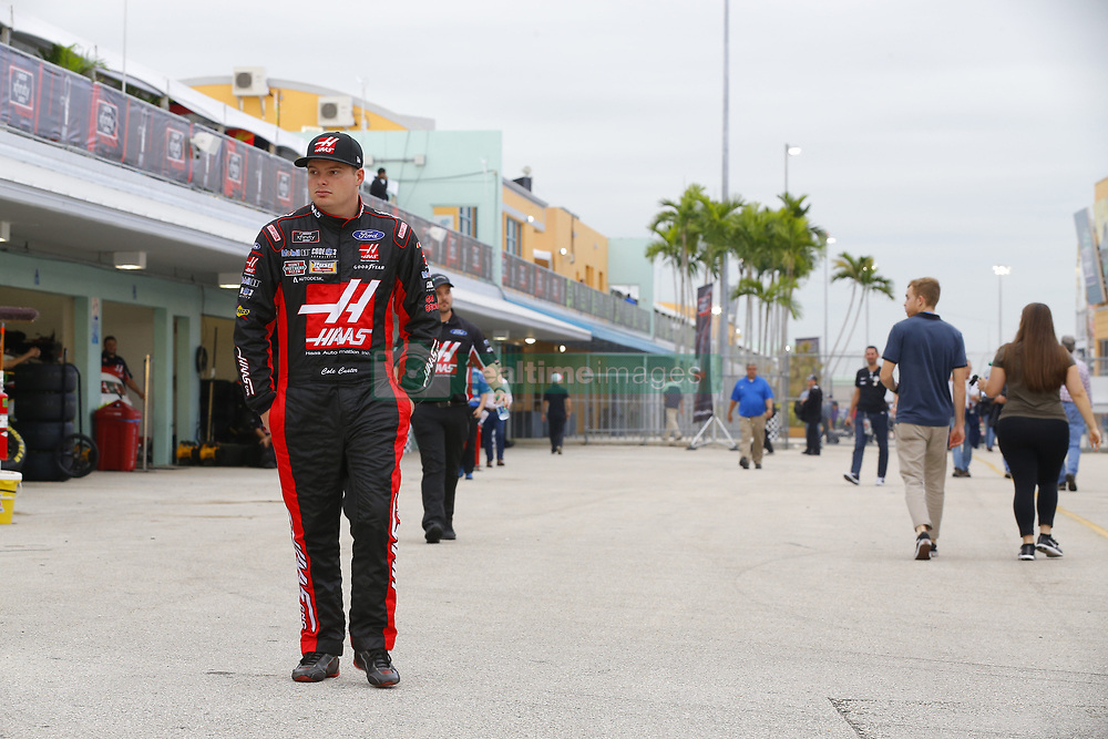 November 16, 2018 - Homestead, Florida, U.S. - Cole Custer (00) hangs out in the garage during practice for the Ford 300 at Homestead-Miami Speedway in Homestead, Florida. (Credit Image: © Chris Owens Asp Inc/ASP)