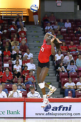 28 AUG 2009: Hailey Kelley jumps to strike the ball. The Redbirds of Illinois State defeated the Runnin' Bulldogs of Gardner-Webb in 3 sets during play in the Redbird Classic on Doug Collins Court inside Redbird Arena in Normal Illinois