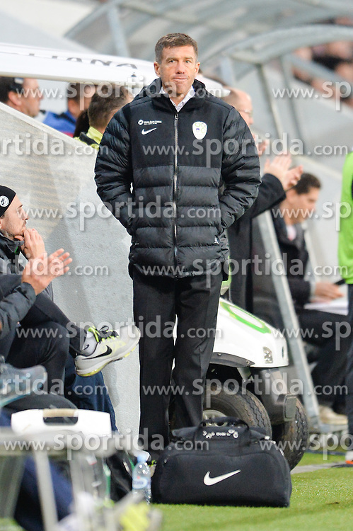 Srecko Katanec, head coach of Slovenia during football match between National Teams of Slovenia and San Marino in Round 5 of EURO 2016 Qualifications, on March 27, 2015 in SRC Stozice, Ljubljana, Slovenia. Photo by Mario Horvat / Sportida