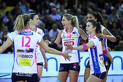 01-05-2017 ITA: Liu Jo Volley Modena - Igor Gorgonzola Novara, Modena<br /> Final playoff match 1 of 5 / Team Novara met Laura Dijkema #14<br /> <br /> ***NETHERLANDS ONLY***