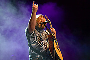 """Jack Black of Tenacious D performs during  """"Tenacious D in Post-Apocalypto The Tour 2019"""" at Ascend Amphitheater in Nashville."""