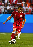 16th June 2018, Mordovia Arena, Mordovia, Russia; FIFA World Cup WM Weltmeisterschaft Fussball Football, Group C, Peru versus Denmark; William Kvist of Denmark PUBLICATIONxINxGERxSUIxAUTxHUNxSWExNORxDENxFINxONLY ActionPlus12037520 UlrikxPedersen