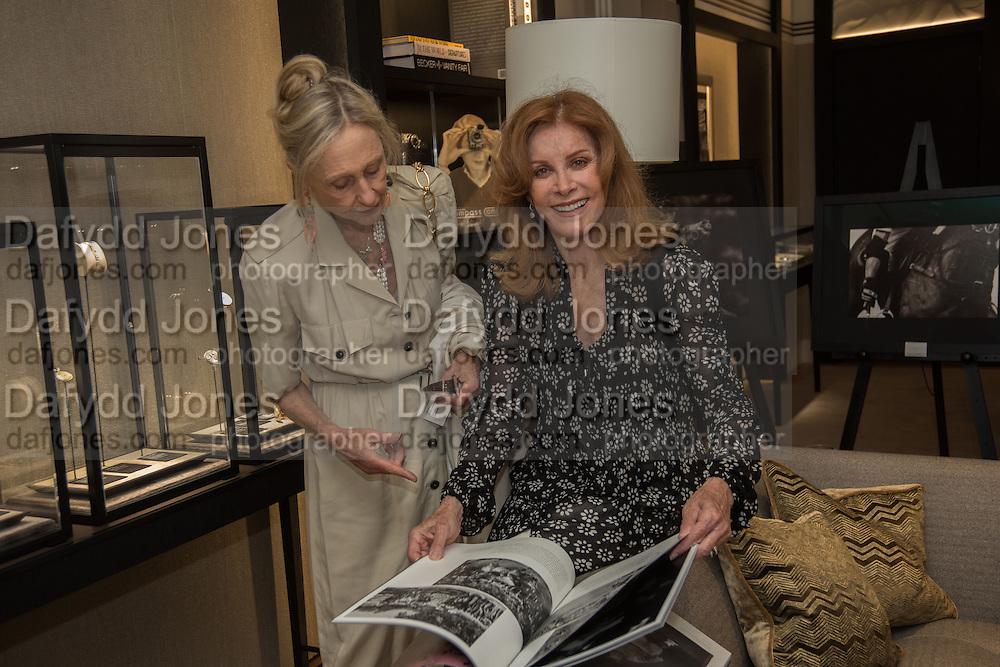 STEPHANIE POWERS; VANESSA CLYDE, preview of 'UNBRIDLED SYNCHRONY', an exhibition of works by photographer Astrid Muñoz. Jaeger-LeCoultre Boutique<br /> 13 Old Bond Street. London. 13 July 2015