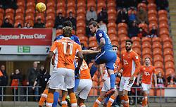 Jack Marriott of Peterborough United heads in the opening goal of the game - Mandatory by-line: Joe Dent/JMP - 18/02/2018 - FOOTBALL - Bloomfield Road - Blackpool, England - Blackpool v Peterborough United - Sky Bet League One