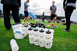 Drink during practice session of Slovenian National Football team before Euro 2016 Qualifications against Estonia, on September 3, 2014 in Sports stadium Kranj, Slovenia. Photo by Vid Ponikvar  / Sportida.com