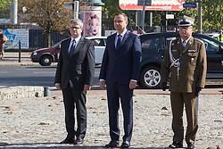 September 17, 2016 - Warsaw, Poland - President of Poland, Andrzej Duda during the Anniversary of Soviet invasion of Poland on 1939 in Warsaw, Poland on 17 September 2016  (Credit Image: © Mateusz Wlodarczyk/NurPhoto via ZUMA Press)