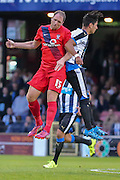 Keith Lowe & Ayoze Perez during the Pre-Season Friendly match between York City and Newcastle United at Bootham Crescent, York, England on 29 July 2015. Photo by Simon Davies.