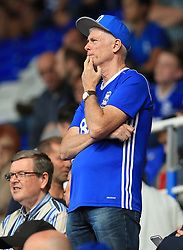 A Birmingham City fan looks concerned - Mandatory by-line: Paul Roberts/JMP - 26/08/2017 - FOOTBALL - St Andrew's Stadium - Birmingham, England - Birmingham City v Reading - Sky Bet Championship