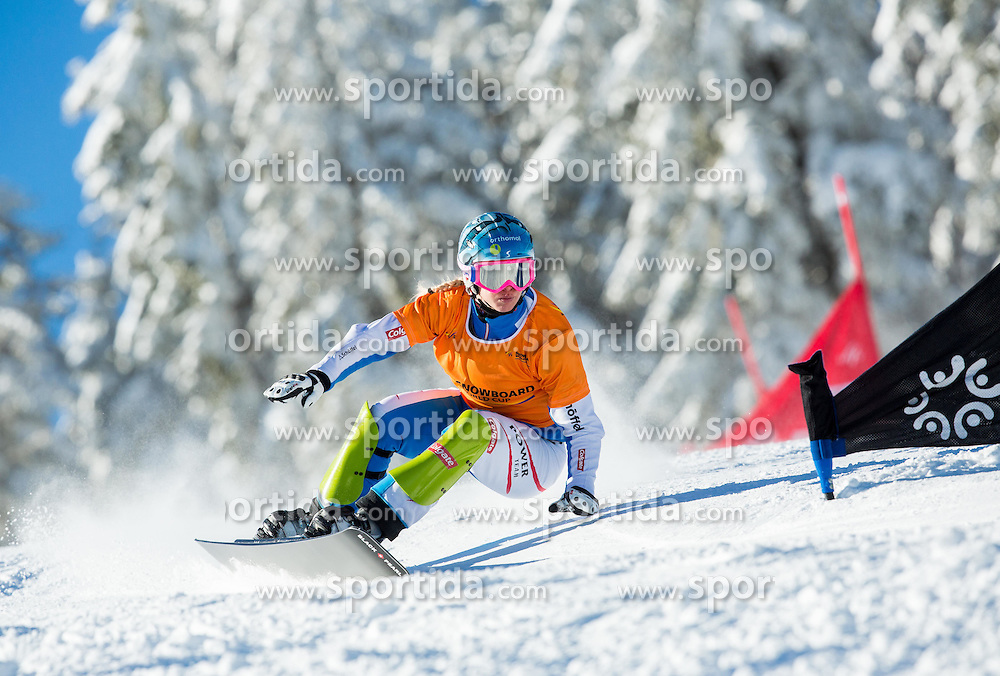Marion Kreiner of Austria competes during Qualification Run of Ladies' Parallel Giant Slalom at FIS Snowboard World Cup Rogla 2015, on January 31, 2015 in Course Jasa, Rogla, Slovenia. Photo by Vid Ponikvar / Sportida