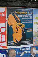 Farewell to Summer Concert Poster poster in Polish seen in Krakow Poland