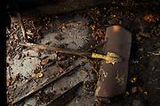 Broken Shovel. Barn details. <br /> Photographed by editorial lifestyle photographer Nathan Lindstrom