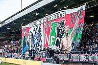 NIJMEGEN - NEC - Vitesse , Voetbal , Eredivisie , Seizoen 2016/2017 , Stadion de Goffert , 23-10-2016 , Spandoek van NEC
