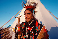 Yaqui Traditional Dancer, Joe Saenz in Browning, Montana 1087