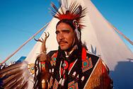 Yaqui Traditional Dancer, Joe Saenz in Browning, Montana 1087
