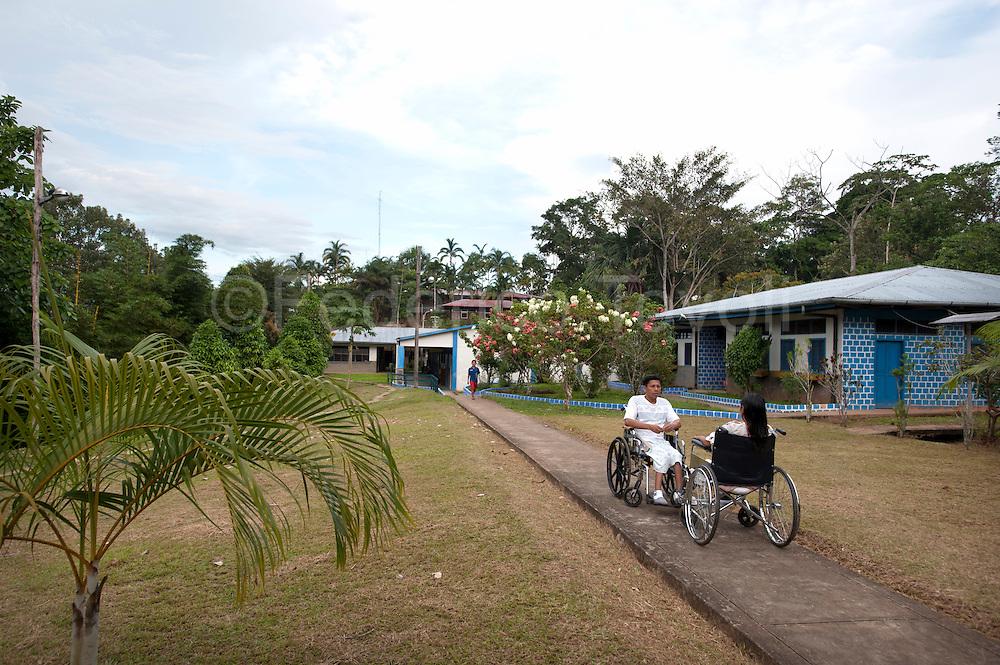 "External parts of Santa Clotilde's ""centro de salud"" (healt care center)"