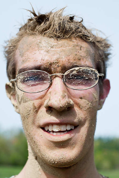 Johnathan Denhart poses for a portrait after finishing the Race for a Reason Mud Run. Photo by: Ross Brinkerhoff. Race for a Reason, Race 4 A Reason, Annual Events, Events, Students, Faculty & Staff
